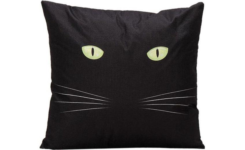 Fekete macska párna
